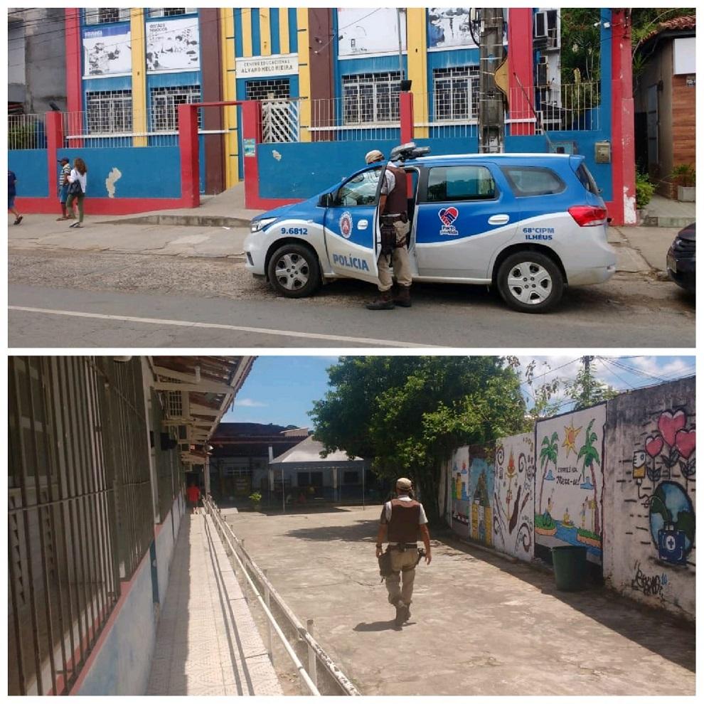 Policia Militar garante segurança através da ronda escolar