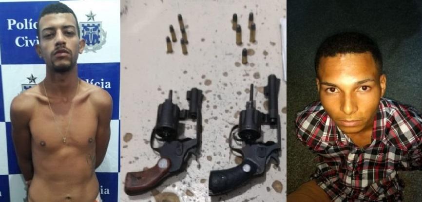 Dois homens foram presos com carro roubado e armas em Ilhéus